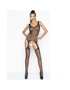 PASSION WOMAN BS043 BODYSTOCKING NEGRO TALLA UNICA