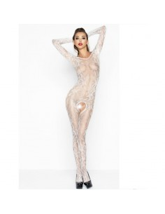 PASSION WOMAN BS042 BODYSTOCKING BLANCO TALLA UNICA