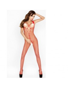 PASSION WOMAN BS014 BODYSTOCKING ROJO TALLA UNICA