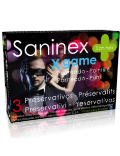 SANINEX X GAME PRESERVATIVOS PUNTEADOS AROMATIZADOS 3 UDS