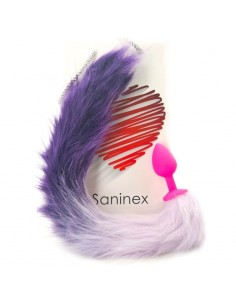 SANINEX SENSATION PLUG CON COLA LILA