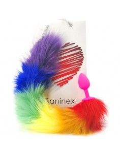 SANINEX SENSATION PLUG CON COLA ARCOIRIS