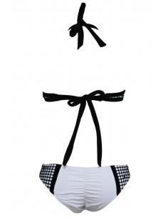QUEEN SUMMER ORIGINAL BIKINI BLANCO / NEGRO TALLA L
